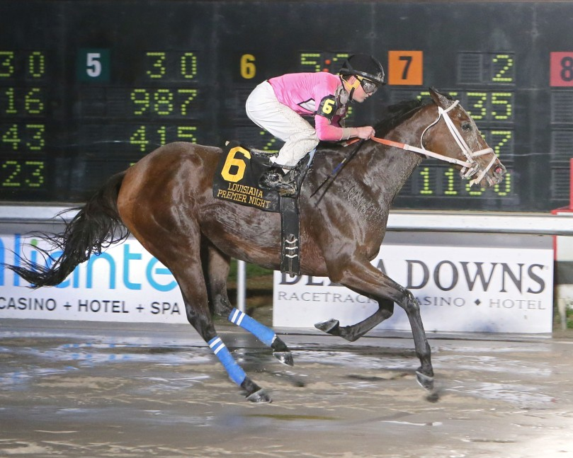 PACIFIC PINK - The LA Bred Night Distaff - 02-10-18 - R11 - DED - Finish